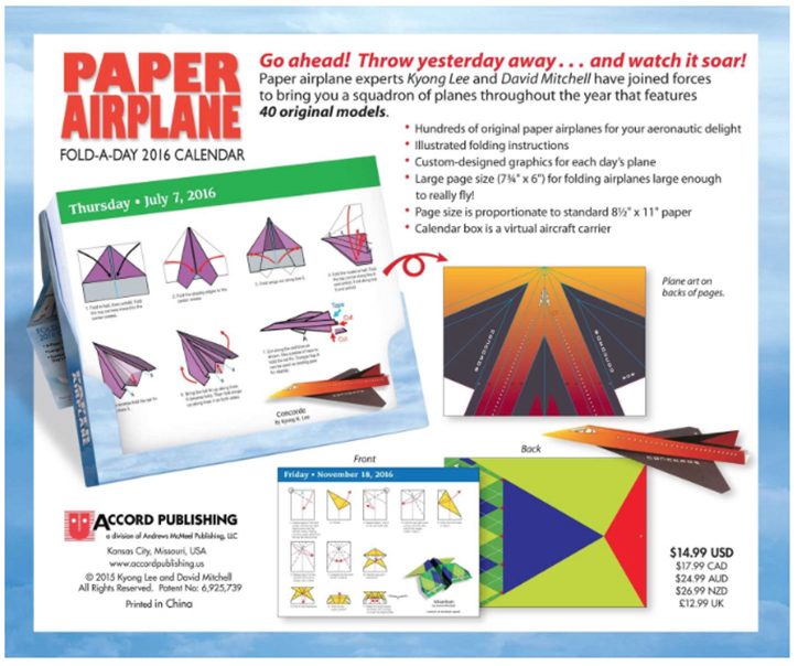 asample page folding instruction page