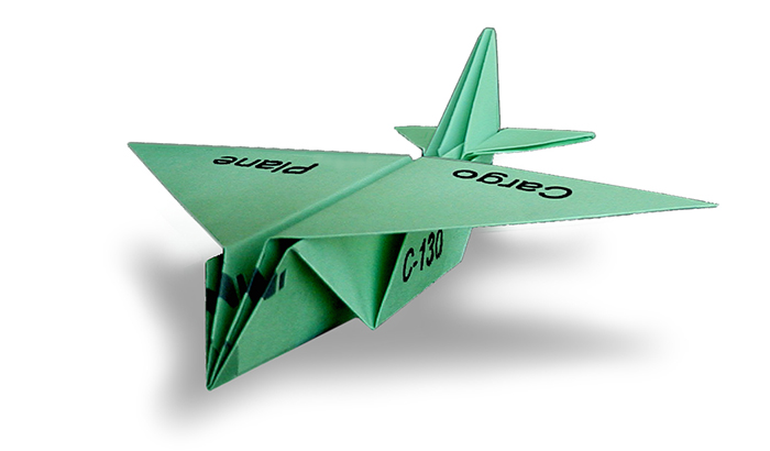 Cargo Paper Airplane Folding Instructions