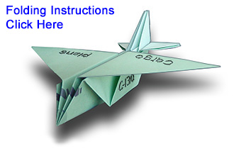 The Cargo Paper Airplane Is Inspired By Lockheed Martin C 130 Hercules Transport Military Plane This Cannot Fly It An Origami Display