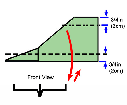 fold down the wings and fold up the wing tips adjust creases so that the plane has this profile