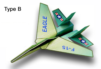 graphic regarding Paper Airplane Printable identify F-15 Eagle Paper Aircraft : Folding Directions