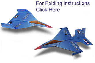 this f 16 falcon paper airplane has a swept wing with leading edge extensions that resemble the f 16 falcon fighter jet although it is harder to make
