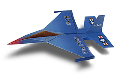 F 16 Falcon Paper Airplane Folding Instructions